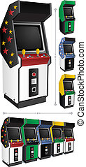 Arcade Games - Arcade game machine in 4 different color...