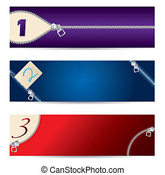 New set of zipper banners