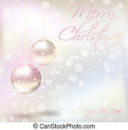Christmas card with text sample