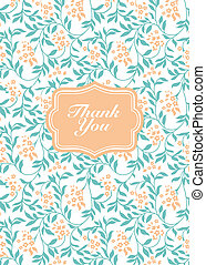 Vector Flower Thank You Frame
