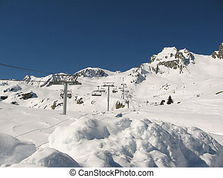 Wintersport Les Sybelles France - A perfect day for skiing...