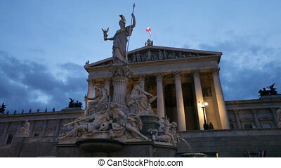 Vienna, Austria - The Parliament building in Vienna, Austria...