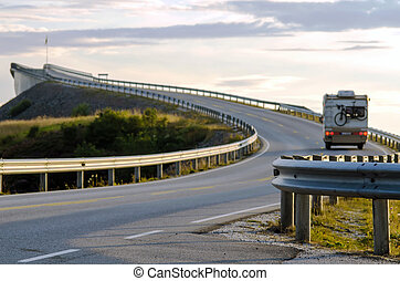 the atlantic coast road - the Atlantic coast road with...