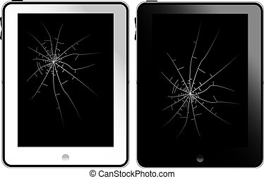 White and black tablet pc