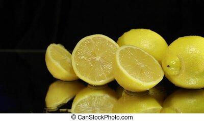 Wet Lemons on Black