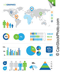 Colorful InfoGraphics - This image represents a collection...