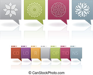 Flowers - Abstract flowers icons set This artwork set...