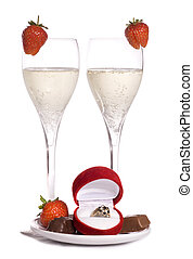 Will you marry me champagne and chocolates studio cutout