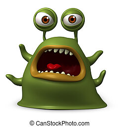 verde, monstruo