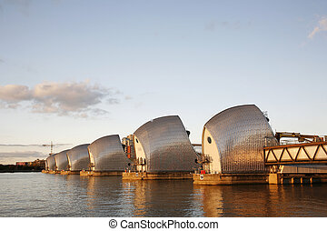 Thames barrier - Thames Barrier, tidal protector, is the...