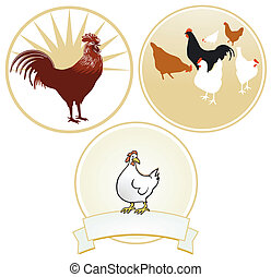 Chicken and rooster sign