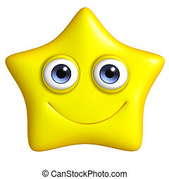 cute 3d star