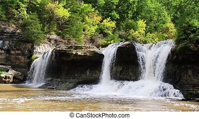 Indiana Waterfall Loop - HD loop of Indianas Upper Cataract...