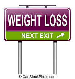 Weight loss concept. - Illustration depicting a roadsign...