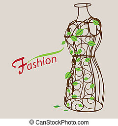 Vintage mannequin - Creative on fashion. Vintage mannequin...