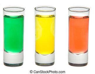 Three shots ready to go