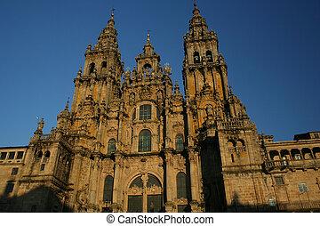Cathedral - The huge Santiago of Compostela impressive...