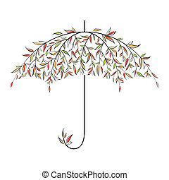 Decorative autumn umbrella