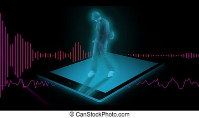 Dancer on tablet pc