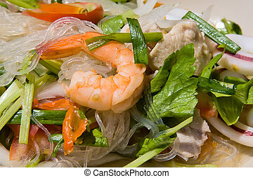 Thai seafood spicy salad