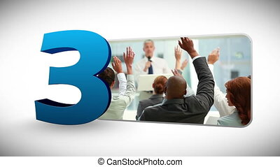 Countdown of business people