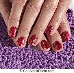 Woman fingers