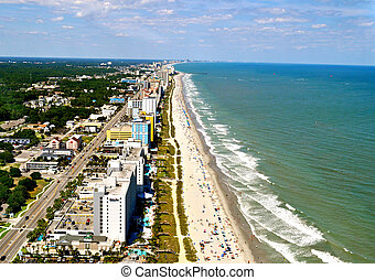 Myrtle Beach Coastline - Aerial View-1 - Myrtle Beach...