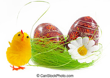 Easter chock and easter egg