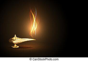 aladdin lamp - vector Aladdin lamp concept, eps 10 file,...