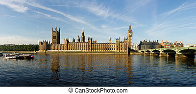 The House of Parliament and the Clock Tower in London,...