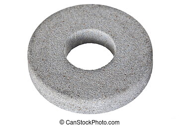 Circular abrasive disk - emery isolated on white background...