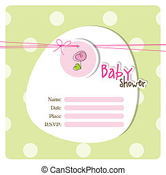 Baby shower invitation - Greeting card