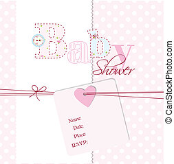 Baby shower invitation - Cute card