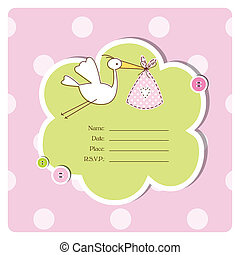 Baby shower invitation - Greeting card with copy space