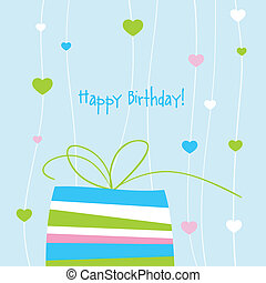 Birthday card with copy space