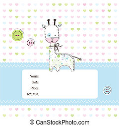 Baby shower invitation - Baby arrival card