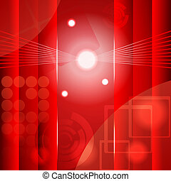 Red abstract background. eps10