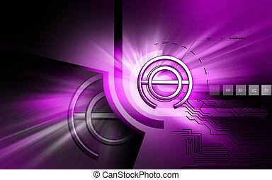 atheist sign - Digital illustration of a atheist symbol in...