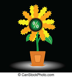 The growing percent - The abstract picture in the form of a...