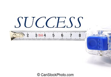 measuring your success - a measuring tape isolated on white...