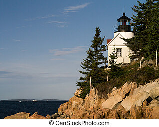 Bass Harbor Lighthouse Tremont Maine on Mount Dessert Island...