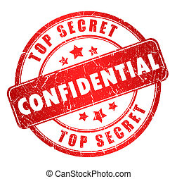Confidential stamp isolated on white