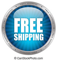 Free shipping icon isolated on white