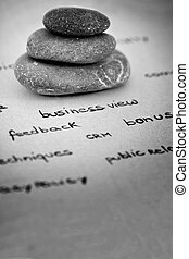 zen and relax in the business environment - zen stones...