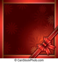 christmas background with gift bow