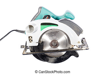Electric Circular Saw - Hand-Held Circular Saw - Isolated on...