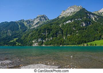 Mountain lake at Kloental