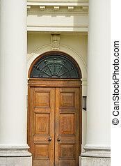 Detail of door with columns