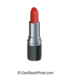 vector lipsticks isolated on white background.