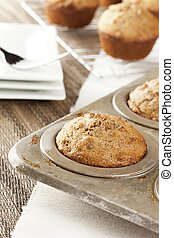 Fresh Homemade Bran Muffins made with Whole Wheat